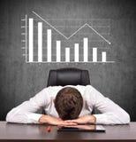 Crisis stock chart Royalty Free Stock Photos