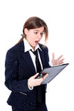 Crisis stressed businesswoman Royalty Free Stock Image