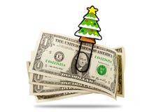 Crisis symbol. Christmas money problems, money crisis Stock Image