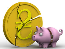 The crisis of the Ukrainian economy. Concept Stock Images