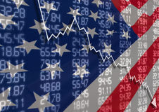 Crisis in USA Royalty Free Stock Image