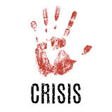 A crisis. Vector illustration isolated on white background. Royalty Free Stock Photography