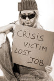 1929 Crisis Victim Homeless Royalty Free Stock Images