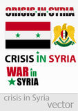 The crisis and the war in Syria Stock Photo