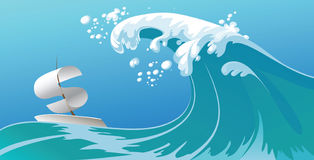 Crisis Wave Royalty Free Stock Photography
