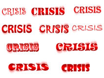 Crisis word. Different type vector illustration Stock Image