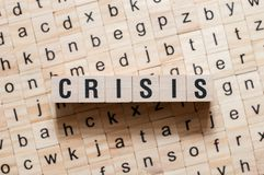 Crisis word concept royalty free stock photos