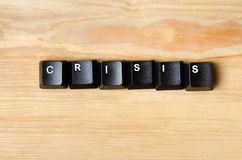 Crisis word Royalty Free Stock Images