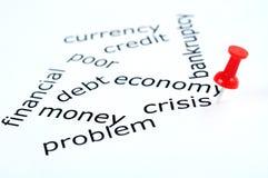 Crisis word Stock Image