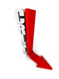 CRISIS Word With Red Arrow Down. Business Concept Stock Images