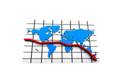 Crisis in the world business market. Illustration Royalty Free Stock Photos