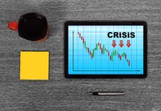 Crisisgrafiek Stock Foto's