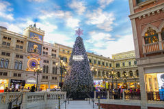 Crismas event in Venetian Casino in Taipa. The famous shopping mall, luxury hotel and the largest casino in the world Stock Images