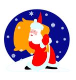 Crismas illustration. Hand draw & computer generated santa claus illustration royalty free illustration