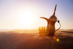 Crisol árabe del café Fotos de archivo libres de regalías
