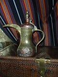 Crisol árabe del café Foto de archivo libre de regalías