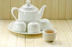 Crisol blanco del té Imagen de archivo libre de regalías