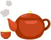 Crisol caliente del té Foto de archivo libre de regalías