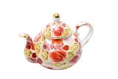 Crisol chino del té aislado Foto de archivo libre de regalías