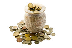 Crisol con el dinero Fotografía de archivo