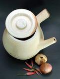 Crisol de arcilla chino Foto de archivo libre de regalías