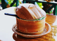 Crisol de bambú. Foto de archivo
