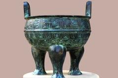 Crisol de bronce chino Foto de archivo