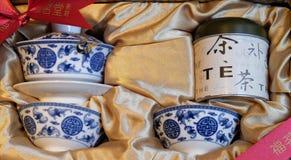 Crisol de cerámica del té Imagenes de archivo