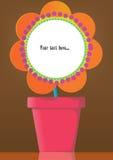 Crisol de flor stock de ilustración