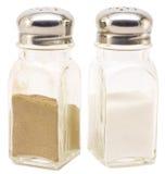 Crisol de la sal y de pimienta imagen de archivo