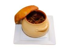 Crisol de sopa foto de archivo