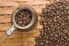 Crisol del café turco. Fotografía de archivo