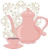 Crisol del café y taza de café Foto de archivo libre de regalías