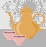Crisol del café y taza de café Imagenes de archivo