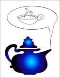 Crisol del té Foto de archivo libre de regalías