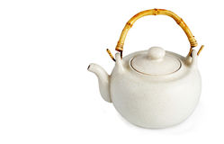 Crisol del té del lomo foto de archivo