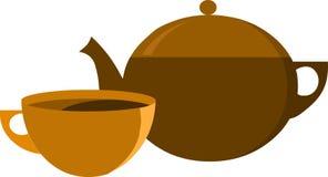 Crisol del té y taza de té,   Imágenes de archivo libres de regalías