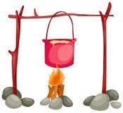 Crisol en el fuego Imagen de archivo libre de regalías
