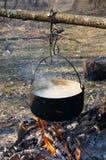 Crisol en el fuego Fotos de archivo