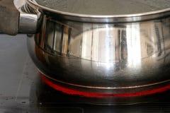 Crisol en la placa caliente Fotografía de archivo libre de regalías