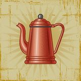 Crisol retro del café Fotos de archivo