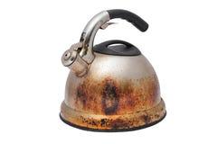Crisol viejo oxidado del té Imagen de archivo