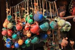 Crisoles coloreados Fotografía de archivo libre de regalías