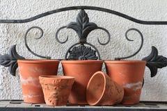 Crisoles de arcilla Imagen de archivo libre de regalías
