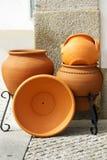 Crisoles de arcilla tradicionales Foto de archivo