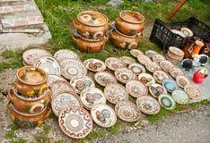 Crisoles de cerámica Foto de archivo libre de regalías