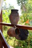 Crisoles de cerámica Fotografía de archivo libre de regalías