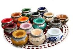 Crisoles de cerámica de Marocco Foto de archivo