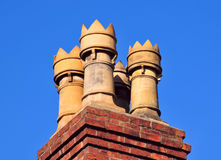 Crisoles de chimenea Foto de archivo