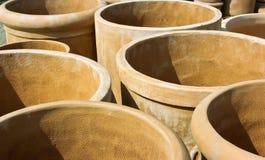 Crisoles de la terracota Imagen de archivo libre de regalías